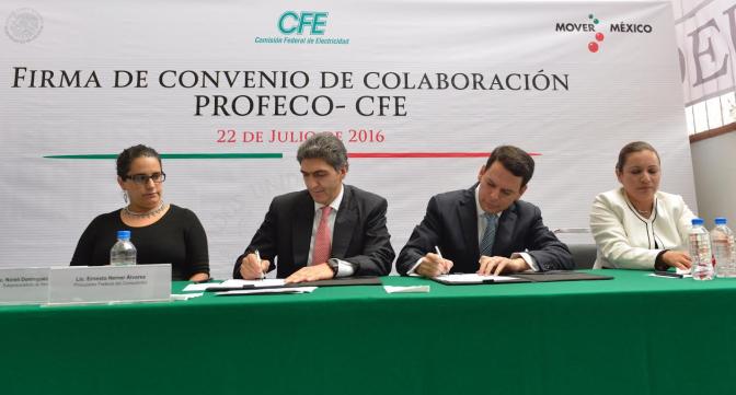 Promete CFE a Profeco agilizar quejas de ciudadanos