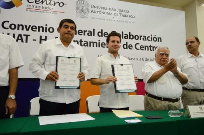 UJAT y gobierno de Centro, aliados para servir a ciudadanos