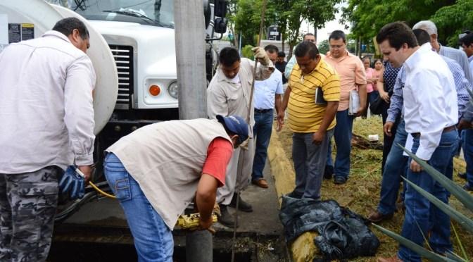 Alcantarillados y drenajes estarán listos para enfrentar lluvias atípicas en Centro