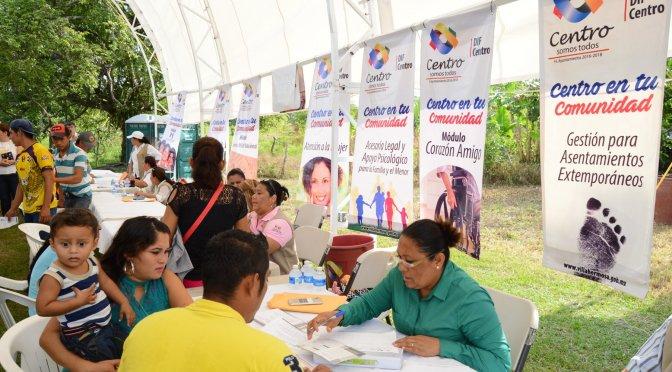 """Mejora vida de familias """"Centro en tu Comunidad"""" con 66 mil 817 atenciones"""