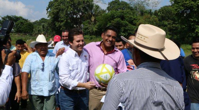 Tendrán Unidad Deportiva familias de zona indígena de Centro