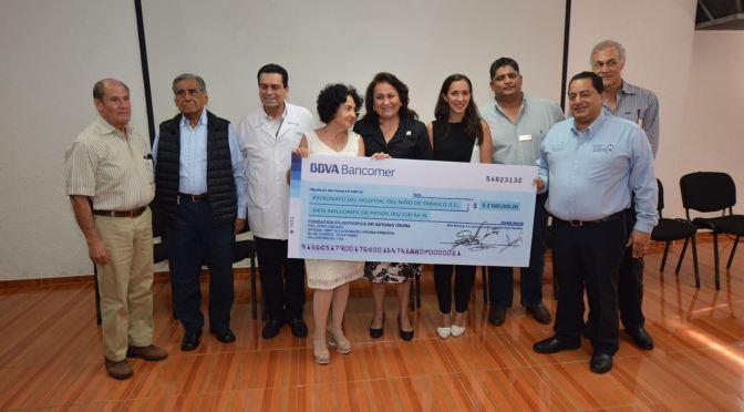 Donan 2 mdp al Hospital del Niño para curar a pacientes con médulas óseas