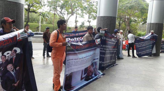 Trabajadores de Construcciones Tapia bloquean Torre Empresarial