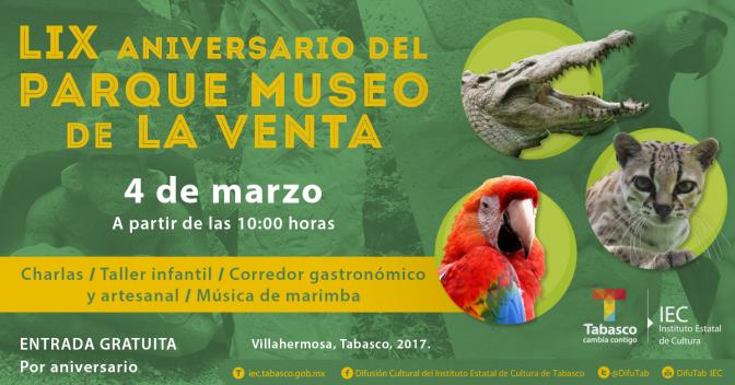 Parque Museo La Venta festejará 59 aniversario con acceso gratuito
