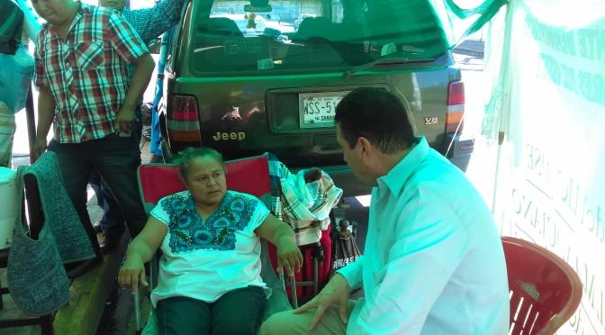Interviene diputado Fócil a favor de lideresa sindical del Isset en huelga de hambre