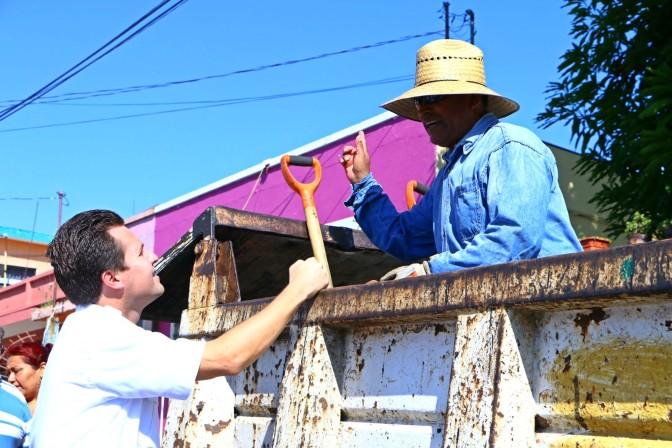 Supervisa Gaudiano mejoramiento de la colonia Linda Vista