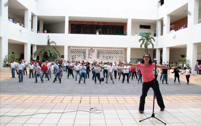 Centro activo y mejorando hábitos de trabajadores