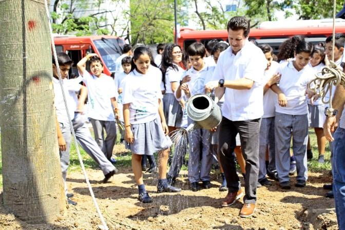 Renace Ceiba rescatada por niños y alcalde de Centro