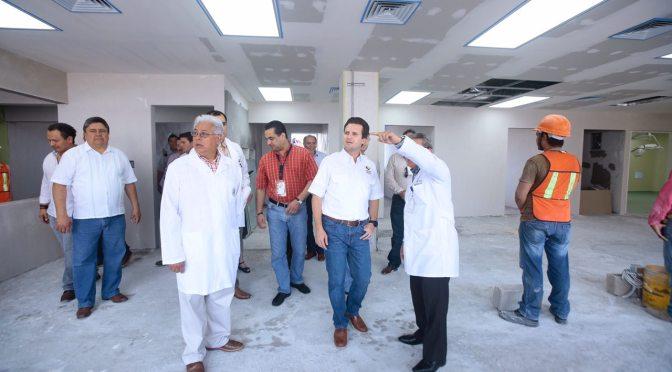Pendiente alcalde de Centro en mejoras  del Hospital del Niño