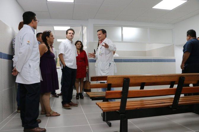 Avanza mejora del hospital del ISSET con apoyo de Centro