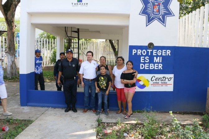 Con caseta rehabilitada ayuda Centro a dar seguridad a familias de Mayito