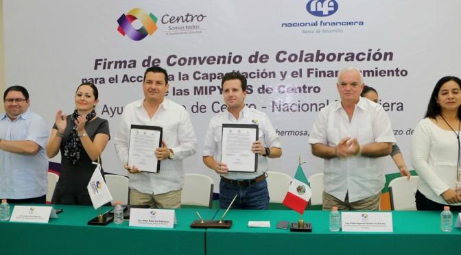 En alianza con Nafin, fortalece Centro a micro, pequeñas y medianas empresas