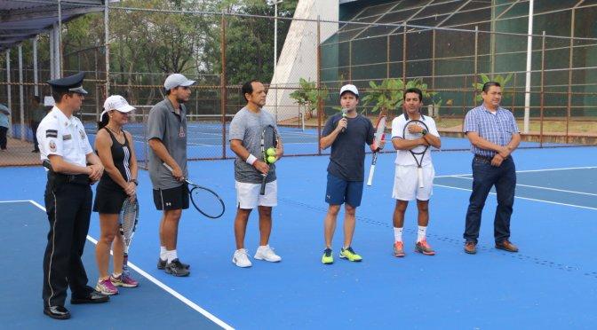 ¡Listas canchas de tenis  del  Centro Recreativo Municipal de Atasta!