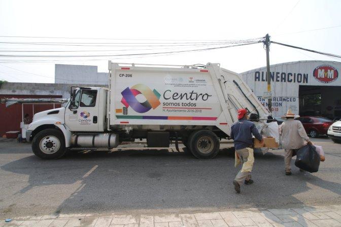 Con camiones nuevos recolectores de basura, más rápido y mejor servicio en Centro