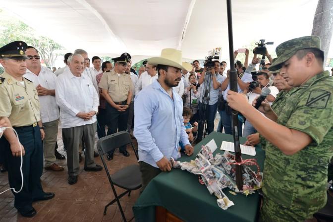 Impulsa Tabasco canje de armas para reducir índices delictivos y proteger a la población