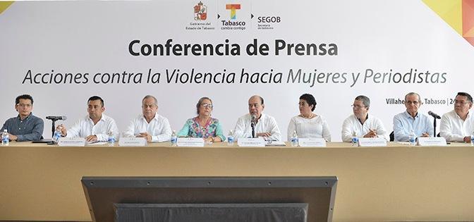 Tabasco protege a sus periodistas