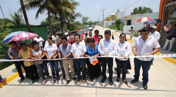 Tres nuevas calles de concreto benefician a familias de Buenavista Río Nuevo 2da