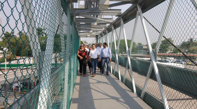 Con puente rehabilitado, Centro da más seguridad a ciudadanos