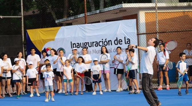 Inaugura Gaudiano Academia Municipal de Tenis