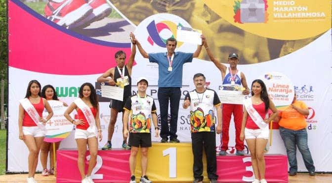 Histórico y exitoso Medio Maratón de Villahermosa