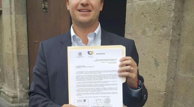 Gestiona Gaudiano ante Presidente Peña recursos para sistema de drenaje de Centro