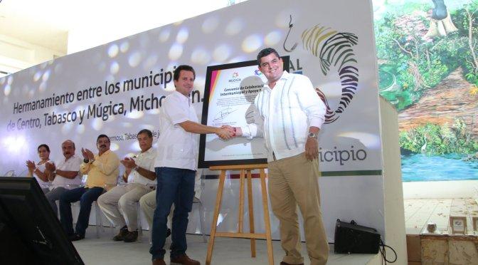 Alianza de trabajo entre Múgica, Michoacán, y Centro, Tabasco