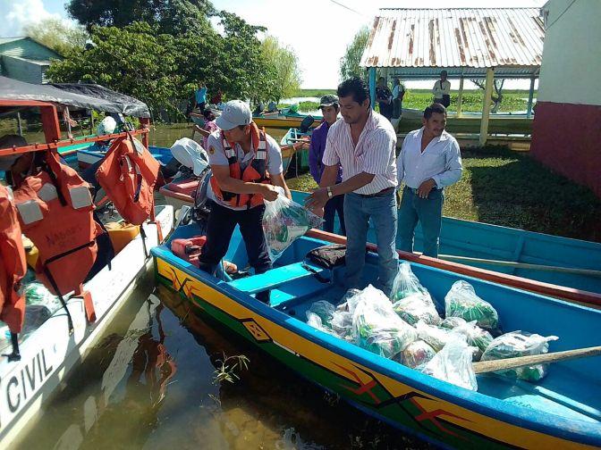 Afectados por inundaciones reciben apoyos