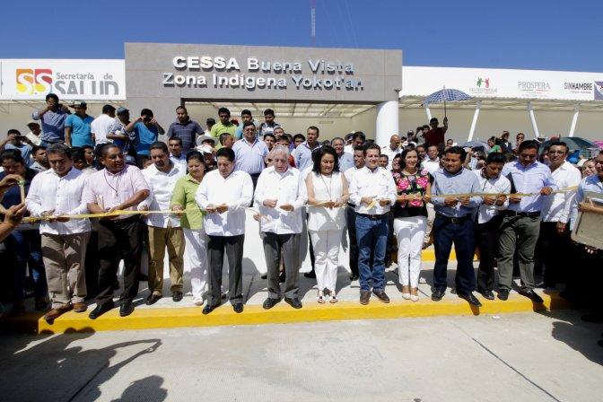 Se congratula Gaudiano por inauguración del CESSA en Buena Vista