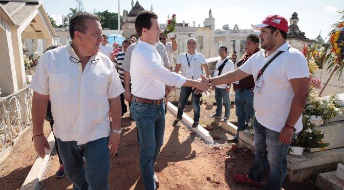 Panteones recibieron en condiciones adecuadas a visitantes, constata Gaudiano
