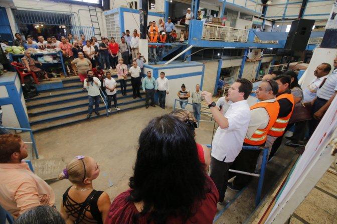Inicia Gaudiano inversión de 2.8 MDP en rehabilitación del mercado de Tamulté