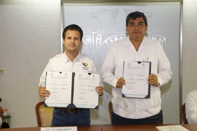 Firma Gaudiano convenio en la UJAT, para evaluación de servicios públicos municipales
