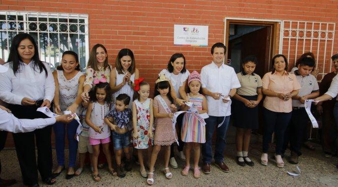 Inaugura matrimonio Gaudiano-Martel Centro de Estimulación Temprana