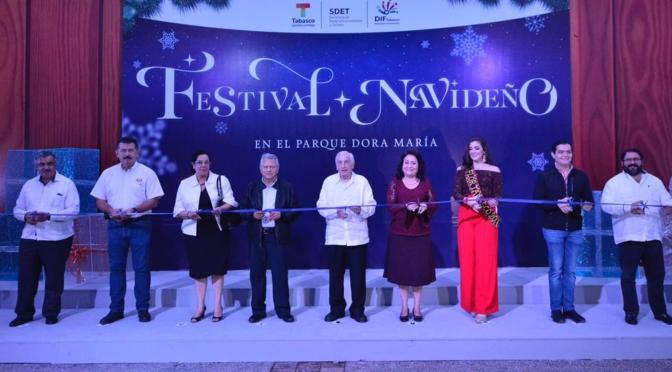 Inicia Festival Navideño en el edén