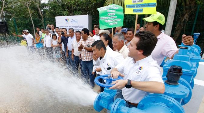 Lleva Gaudiano agua potable a Medellín y Madero 3ª y 4ª sección