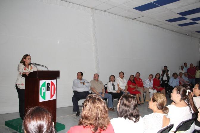 Llama Ruiz Massieu al priísmo a trabajar en equipo y apoyar a Gina