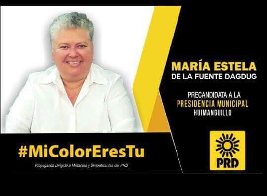 Apoyan huimanguillenses a María Estela de la Fuente para ser su candidata del PRD a la alcaldía