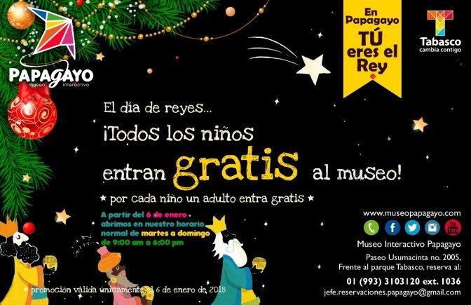 Entrada gratuita para niños al Museo Papagayo