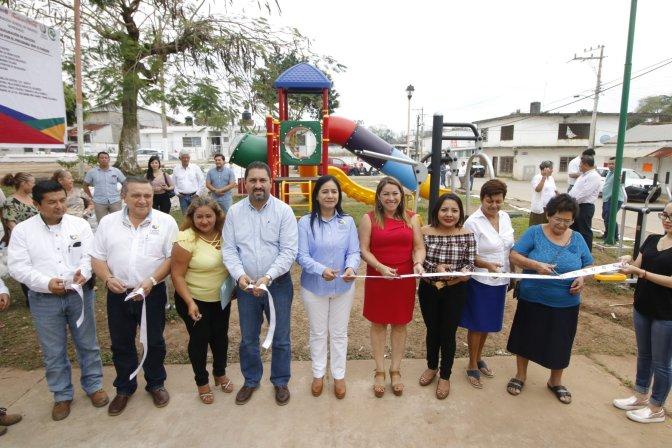 Entrega Centro en Pueblo Nuevoel 4º parque equipado junto con Citibanamex y Coca Cola