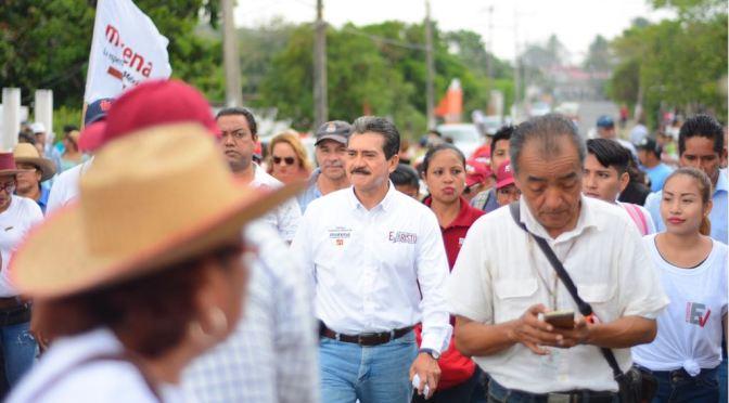 Ofrecen respaldo a Evaristo habitantes de Tamulté de las Sabanas