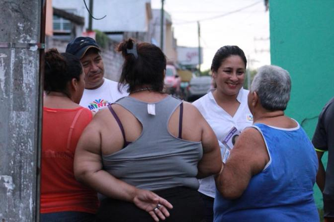 Atasta recibió con alegría a Violeta Caballero Potenciano