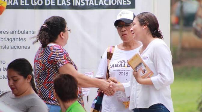 Las nuestras son propuestas reales, no ofrecemos lo imposible: Violeta Caballero