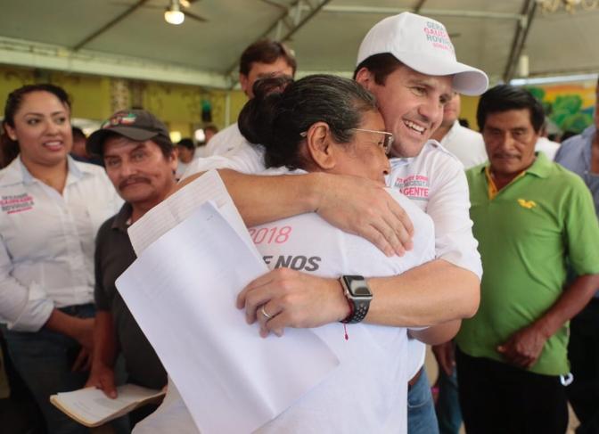 Yo compito contra Adán Augusto ¡Y le voy a ganar!, afirma en Tacotalpa Gerardo Gaudiano