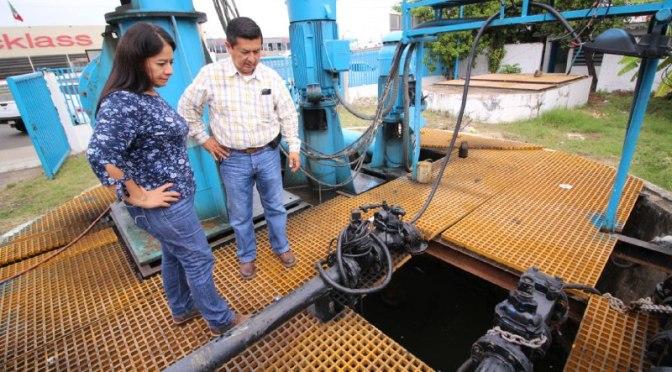Supervisa alcaldesa Casilda Ruiz el correcto funcionamiento de cárcamos en Centro