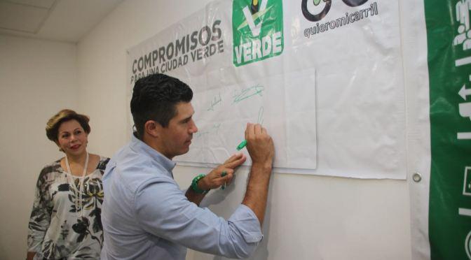 Firma Partido Verde compromisos para una ciudad sustentable