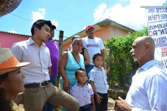Ofrece Mier y Terán Drenaje y seguridad para Buenavista, en Tamulté de las Sabanas