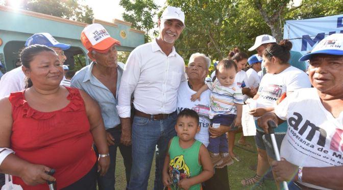 Ofrece Mier y Terán apoyos para el desarrollo de las zonas rurales de Centro