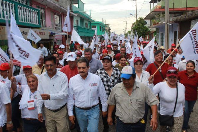 Agradece Evaristo suma de ciudadanos en su primer precierre en Gaviotas Norte y Sur