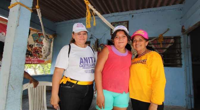 Rinconada y Flores 1ra están con Anita Castellanos para alcaldesa de Paraíso