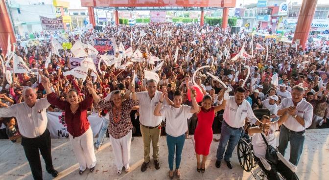 Cierra Adán Augusto campaña en Cunduacán y Jalpa en medio de fiesta ciudadana