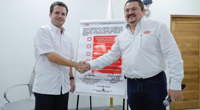 Nuevo hospital, nuevo Centro de Convenciones y rehabilitación de red carretera con constructores tabasqueños: Gerardo Gaudiano